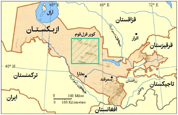 نقشه ماوراء النهر